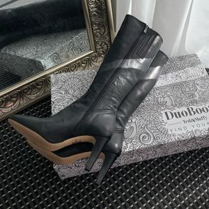 Black Leather boots | Knee length Leather boots |